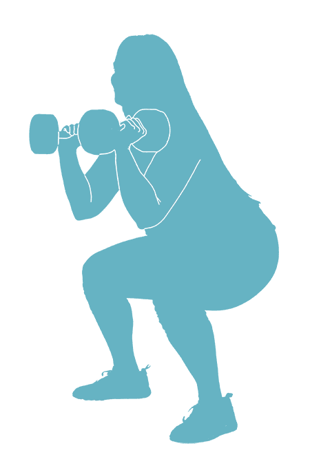 FrontSquat-Angled-Dumbbell-Silhouette
