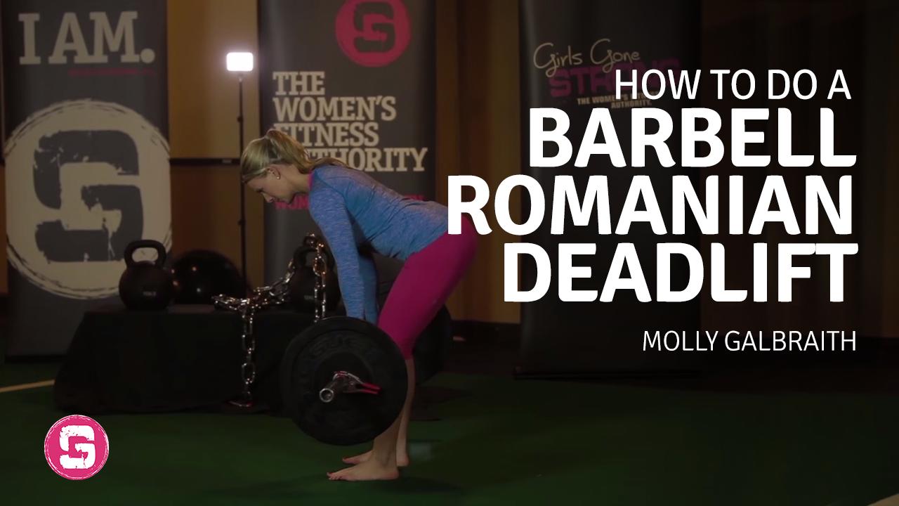 Barbell romanian deadlift girls gone strong falaconquin