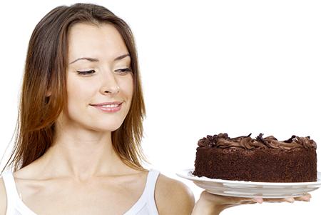 woman-chocolate-cake-450x301